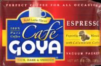 Goya Cafe Espresso Coffee - 8.8 Oz