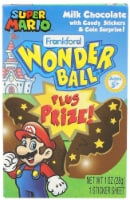Frankford Wonder Ball Plus Prize Super Mario Hollow Milk Chocolate Ball