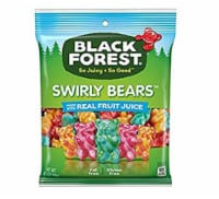 Black Forest Swirly Gummy Bears Candy 4 OZ - Pack of 3
