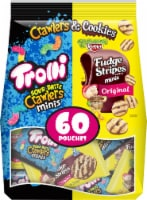FERRARA Trolli Sour Brite Crawlers Candy & Keebler Fudge Stripes Cookies Variety Pack 60 pc