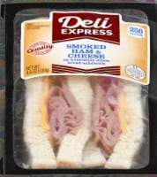 Deli Express Smoked Ham & Cheese Sandwich on White