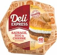 Deli Express Sausage Egg & Cheese Croissant Sandwich