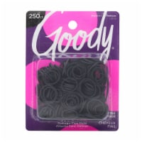 Goody Ouchless Black Rubber Bands for Fine Hair Value Pack