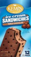 Kemps Triple Chocolate Ice Cream Sandwiches - 12 ct / 3.5 oz