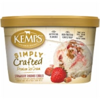 Kemps Simply Crafted Strawberry Rhubarb Cobbler Ice Cream - 48 oz