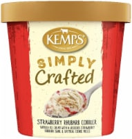Kemps Simply Crafted Strawberry Rhubarb Cobbler Ice Cream - 16 oz