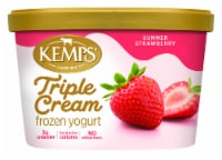 Kemps Triple Cream Summer Strawberry Frozen Yogurt