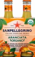 Sanpellegrino Organic Aranciata Sparkling Beverage 4 Bottles