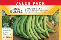 Burpee Stringless Green Pod Bean Seeds