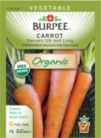 Burpee Danvers 126 Half Long Organic Carrot Seeds