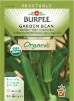 Burpee Organic Golden Wax Improved Garden Bean Seeds
