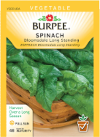 Burpee Bloomsdale Long Standing Spinach Seeds - Green