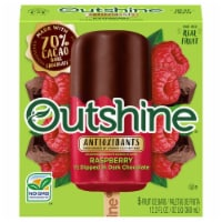 Outshine Raspberry 1/2 Dipped in Dark Chocolate Fruit Ice Bars