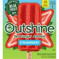 Outshine No Sugar Added Strawberry Fruit Ice Bars - 6 ct / 2.5 oz