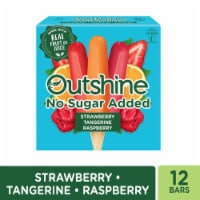 Outshine Strawberry Tangerine & Raspberry Fruit Bars No Sugar Added