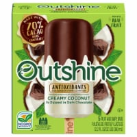 Outshine Creamy Coconut 1/2 Dipped in Dark Chocolate Fruit and Dairy Bars