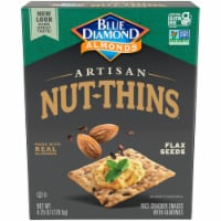 Blue Diamond Almonds with Flax Seeds  Artisan Nut-Thins Cracker Snacks