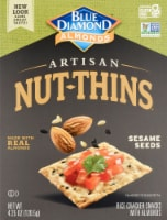 Blue Diamond Almondswith Sesame Seeds Artisan Nut-Thins  Cracker Snacks