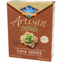 Blue Diamond Almonds Artisan Chia Seeds Nut-Thins