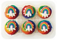 Bakery Fresh Goodness Pride Cupcakes - 6 ct