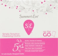 Summer's Eve 5 in 1 Simply Sensitive Cleansing Cloths - 16 ct