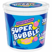Super Bubble Apple Grape & Original Bubble Gum 300 Count