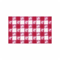 Creative Converting 60 Inch Round Red Gingham Plastic Table Cover - 12 Count
