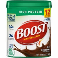 Boost High Protein Rich Chocolate Nutritional Powder Drink Mix