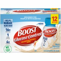 Boost Glucose Control Very Vanilla Balanced Nutritional Drink 12 Count