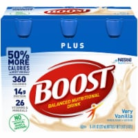 Boost Plus Very Vanilla Balanced Nutritional Drink 6 Count