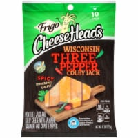 Frigo Cheese Heads Wisconsin Three Pepper Colby Jack Spicy Cheese Sticks