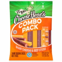 Frigo Cheese Heads Sharp Cheddar & Beef Cheese Sticks Combo Pack