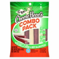 Frigo Cheese Heads Mozzarella Cheese & Beef Salami Sticks Combo Pack