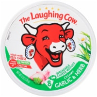 The Laughing Cow Garlic & Herb Creamy Swiss Spreadable Cheese Wedges