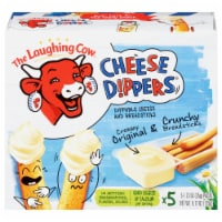 The Laughing Cow Original Creamy Swiss Cheese Dippers and Classic Breadsticks 5 Count