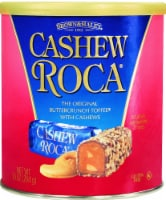 Brown & Haley Cashew Roca Buttercrunch Toffee Candy Canister
