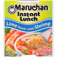 Maruchan Instant Lunch Lime Flavor with Shrimp Ramen Noodle Soup