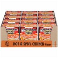 Maruchan Instant Lunch Hot & Spicy Chicken Flavor Ramen Noodle Soup 12 Count