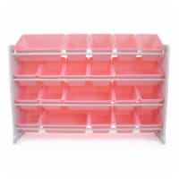 Humble Crew Charlotte Extra Large Toy Storage Organizer with Storage Bins - Pink/White