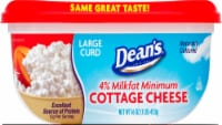 Dean's 4% Milkfat Large Curd Cottage Cheese