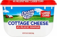 Dairy Pure Country Fresh 4% Milkfat Minimum Large Curd Cottage Cheese