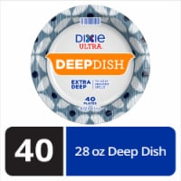 Dixie Ultra Deep Dish 9 9/16-Inch Printed Paper Plate - 40 ct