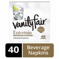 Vanity Fair Entertain White Disposable Paper Beverage Napkins