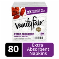 Vanity Fair Extra Absorbent White Paper Napkins