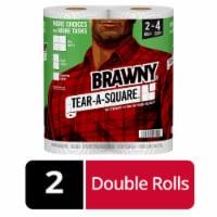 Brawny Tear-A-Square Paper Towel Rolls