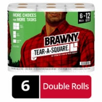 Brawny Tear-A-Square White Paper Towels