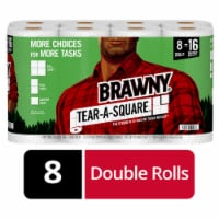 Brawny White Tear-A-Square Paper Towels 8 Rolls