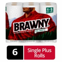 Brawny White Full Sheets Paper Towels - 6 rolls