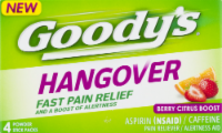 Goody's Berry Citrus Boost Hangover Fast Pain Relief Powder Stick Packs - 4 ct
