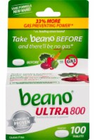 Beano Ultra 800 Food Enzyme Dietary Supplement Tablets 100 Count